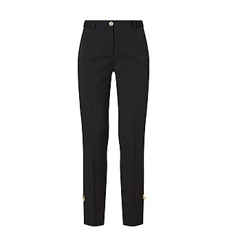 Pinned Slim Leg Trousers