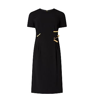 Pin Clip Midi Dress