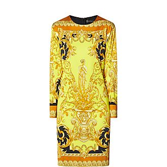Baroque Print Mini Dress