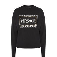 Cropped Logo Sweater