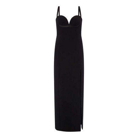 Fitted Slit Evening Dress, ${color}