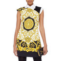 Fitted Print Mini Dress, ${color}