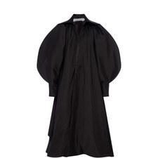 Puff Sleeve Faille Opera Coat