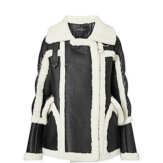 Montaigne Shearling-Trimmed Jacket