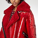 Montaigne Shearling-Trimmed Jacket, ${color}