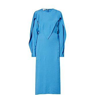 Twill Midi Dress