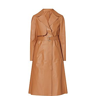 Acaici Leather Trench Coat