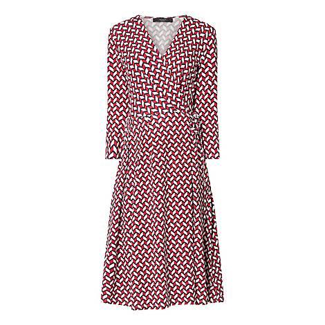 Acca Long Sleeve Wrap Dress, ${color}