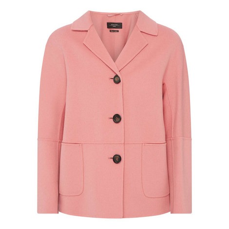 Adrenne Double-Faced Wool Coat, ${color}