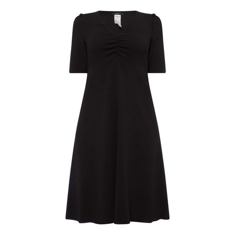 Benda V-Neck Dress, ${color}