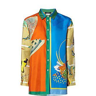 Cabina Printed Silk Shirt