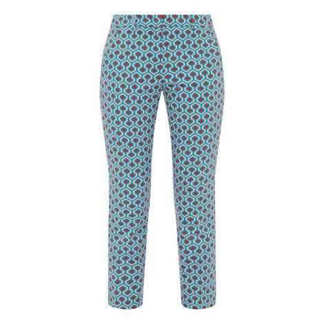 Calcut Geometric Print Trousers, ${color}
