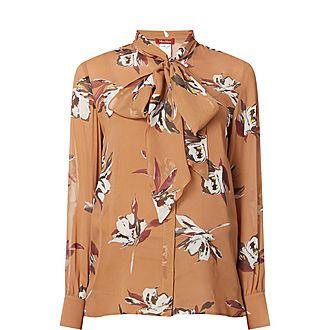 Georgette Floral Print Silk Shirt