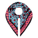 Coimbra Hexagon Print Scarf, ${color}