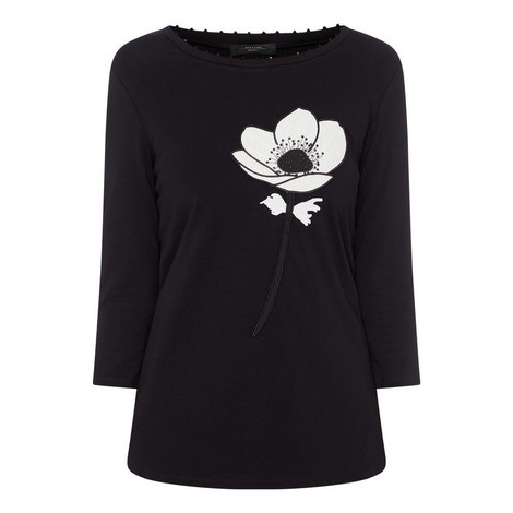 Long Sleeve Flower T-Shirt, ${color}