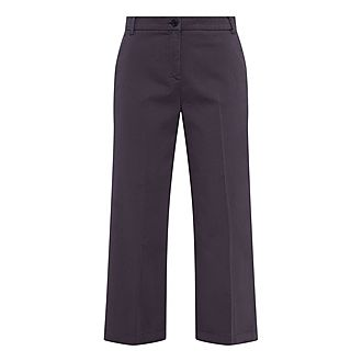 Dudy Cropped Wide Leg Trousers