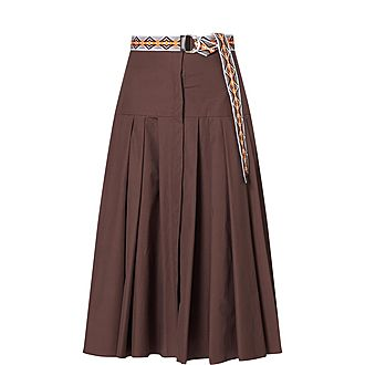 Erica Belted Pleated Skirt