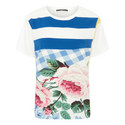 Eulalia Check Floral T-Shirt, ${color}