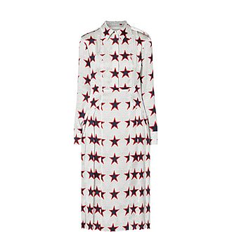 Fazio Star Silk Dress
