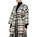 Gigante Reversible Check Coat, ${color}