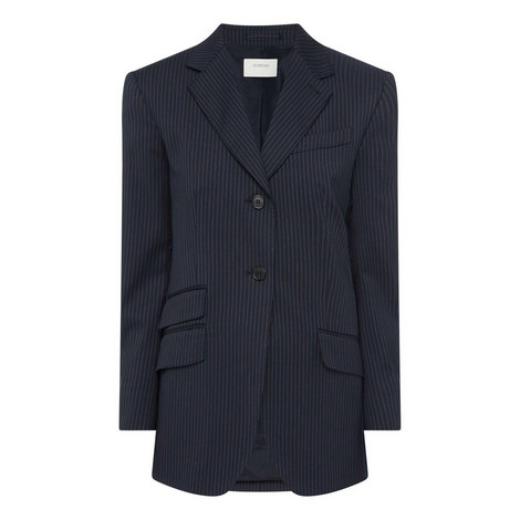 Tailored Pinstripe Jacket, ${color}