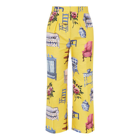 Kentia Printed Trousers, ${color}
