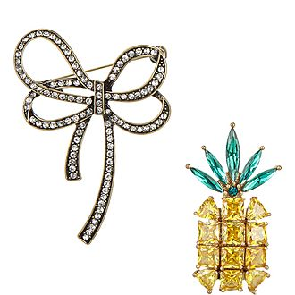 Pineapple & Bow Pins