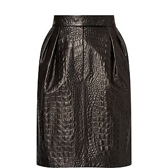 Manilla Faux Leather Skirt