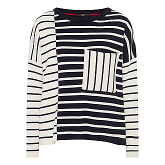 Mario Contrast Stripe Sweater