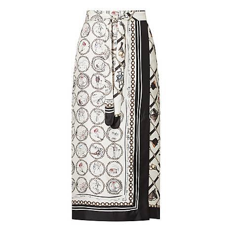 Netto Printed Wrap Skirt, ${color}