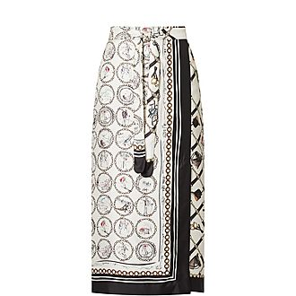 Netto Printed Wrap Skirt