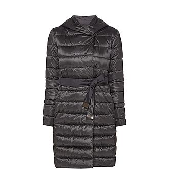 Novef Reversible Long Quilted Coat