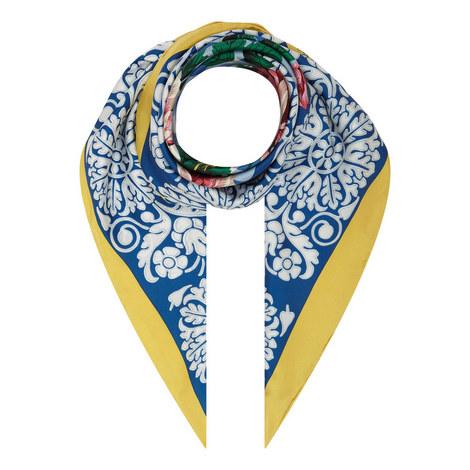 Opache Floral Check Scarf, ${color}