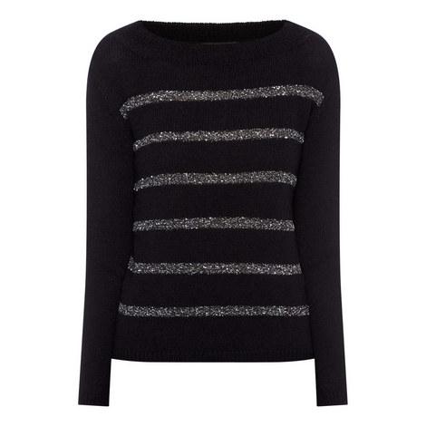 Pagile Stripe Sweater, ${color}