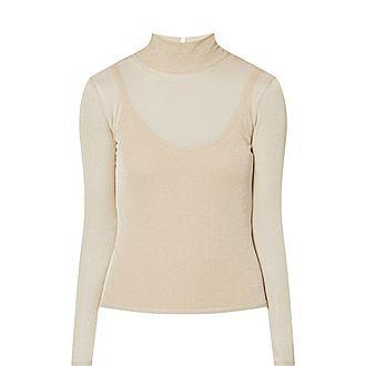 Pietra Lurex High Neck Sweater