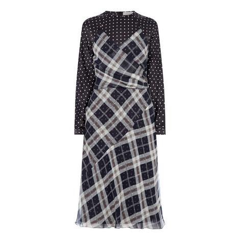 Polka Dot Check Dress, ${color}