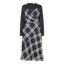 Polka Dot Check Dress