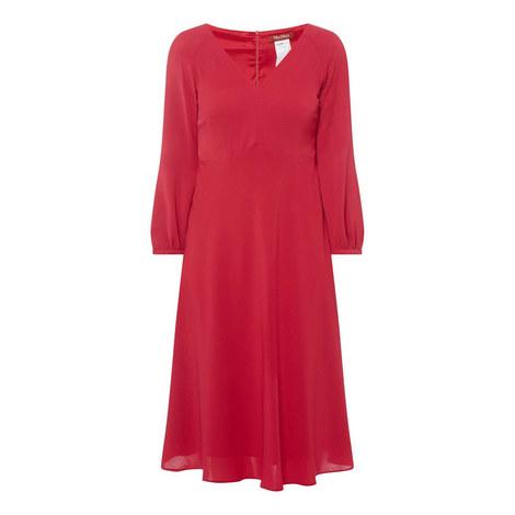 Rafia V Neck Midi Dress, ${color}