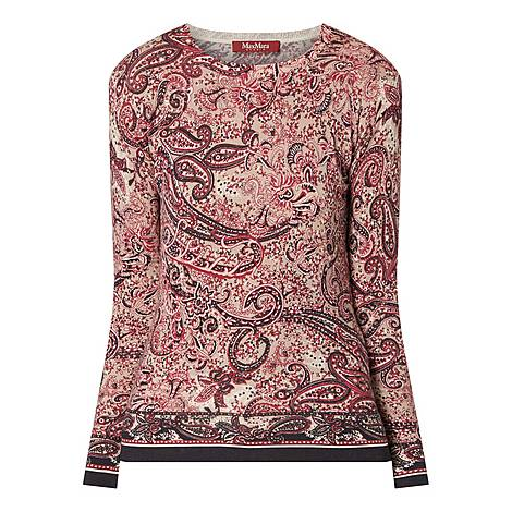 Paisley Print Sweater, ${color}