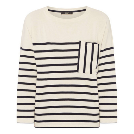 Recital Striped Long Sleeve Top, ${color}