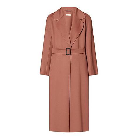 Reus Belted Wrap Coat, ${color}
