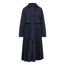 Terry Pleated Half Zip Coat