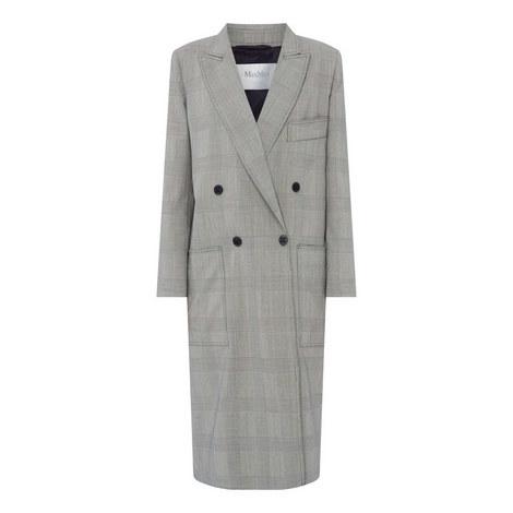 Zarina Wool Check Coat, ${color}