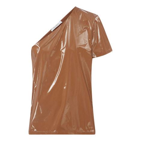 One Shoulder Jersey Top, ${color}