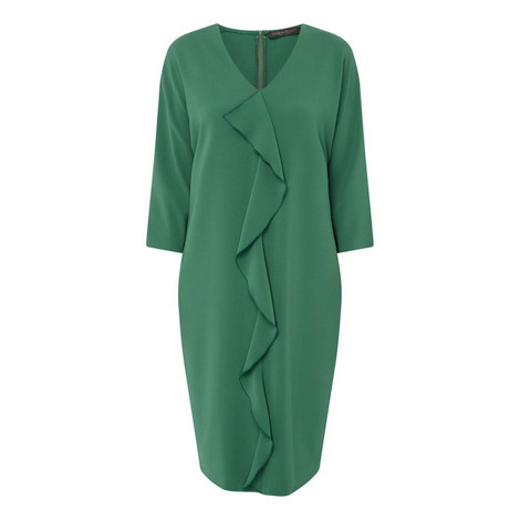 Ruffle Front Dress, ${color}