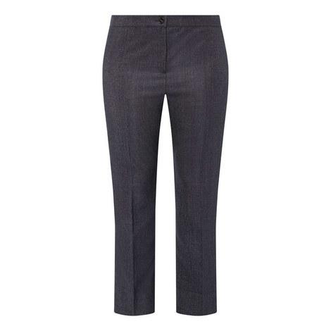 Wool Silk Denim Trousers, ${color}