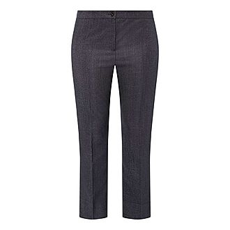 Wool Silk Denim Trousers