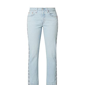 501 Cropped Straight Fit Jeans