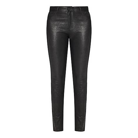 Hoxton Leather Skinny Jeans, ${color}