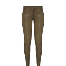 Hoxton Leather Skinny Jeans